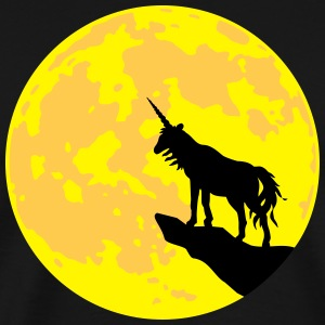 Unicorn and Moon  - 3C -  color change T-Shirts - Men's Premium T-Shirt