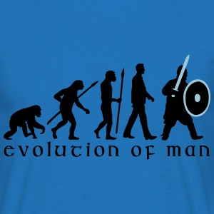 evolution_of_man_knight_with_sword_07201 T-Shirts - Männer T-Shirt