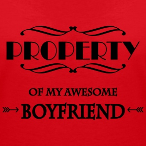 Property of my awesome boyfriend T-Shirts - Women's V-Neck T-Shirt