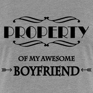 Property of my awesome boyfriend T-shirts - Vrouwen Premium T-shirt