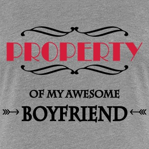 Property of my awesome boyfriend T-Shirts - Women's Premium T-Shirt