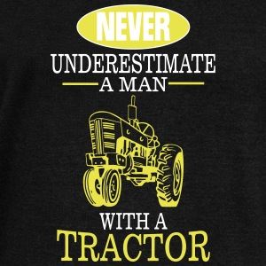 Never underestimate a man with a tractor! Hoodies & Sweatshirts - Women's Boat Neck Long Sleeve Top