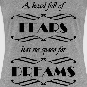 A head full of fears T-Shirts - Frauen Premium T-Shirt