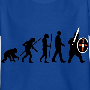evolution_of_man_knight_with_sword_07201 T-Shirts - Kinder T-Shirt