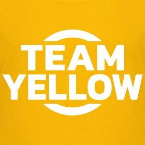 Team Yellow T-shirts - Premium-T-shirt tonåring