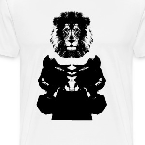 Lion Head Black Premium T - Men's Premium T-Shirt