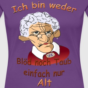 Damen-Shirt,Senioren - Frauen Premium T-Shirt