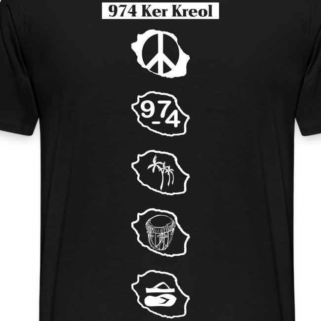 T-shirt Premium Homme symbole Ker Kreol
