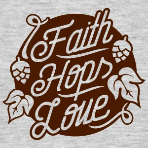 Faith, Hops, Love T-Shirts - Männer T-Shirt