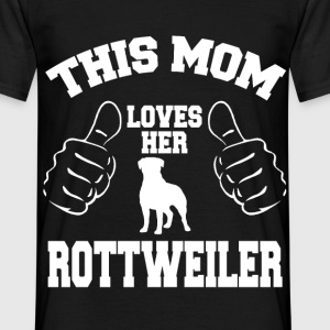 04 THIS MOM LOVES HER ROTTWEILER T-Shirts - Men's T-Shirt