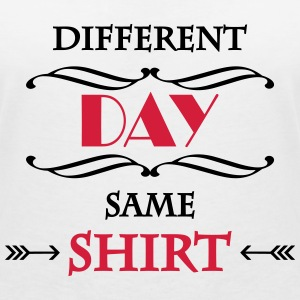 DIfferent day, same shirt T-shirts - Vrouwen T-shirt met V-hals