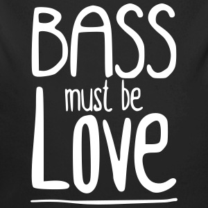 Bass must be Love Baby body - Baby bio-rompertje met lange mouwen