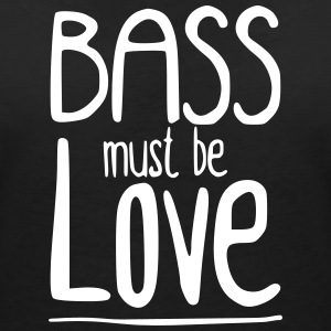 Bass must be Love T-shirts - T-shirt med v-ringning dam