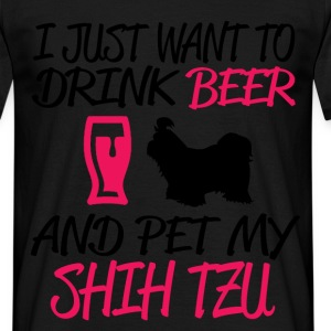 and pet my shih tzu T-Shirts - Men's T-Shirt