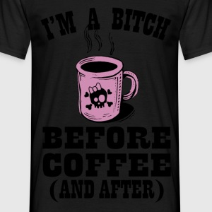 before coffee T-Shirts - Men's T-Shirt