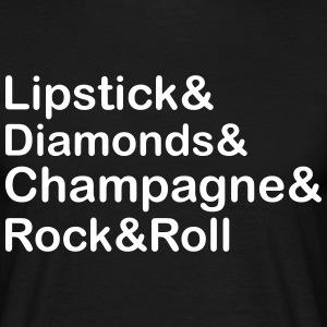 Lipstick Diamond,Champagne & Rock & Roll T-Shirts - Men's T-Shirt