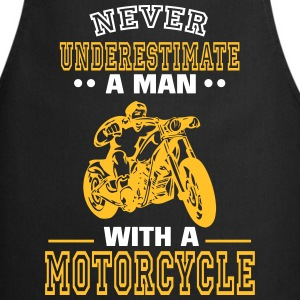 UNDERESTIMATE NEVER A MAN AND HIS MOTORCYCLE.  Aprons - Cooking Apron