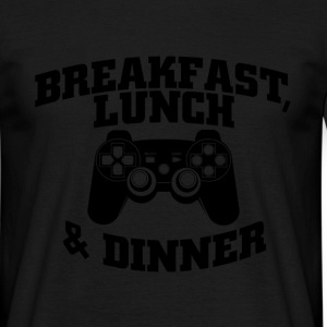 breakfast lunch and dinner T-Shirts - Men's T-Shirt