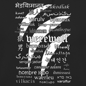 Werewolf in 33 Languages (Black Ver.) Hoodies & Sweatshirts - Unisex Hoodie