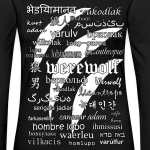 Werewolf in 33 Languages (Black Ver.) Long Sleeve Shirts - Women's Premium Longsleeve Shirt