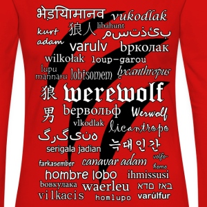 Werewolf in 33 Languages.png Long Sleeve Shirts - Women's Premium Longsleeve Shirt