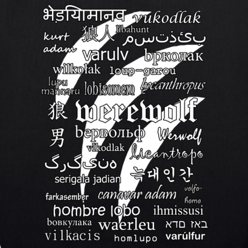 Werewolf in 33 Languages (Black Ver.)
