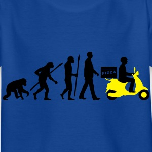evolution_pizza_roller_lieferant_072016a T-Shirts - Kinder T-Shirt