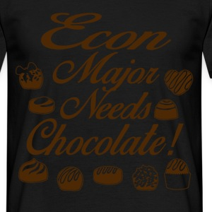 econ major loves chocolate T-Shirts - Men's T-Shirt