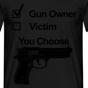 gun owner victim T-Shirts - Men's T-Shirt
