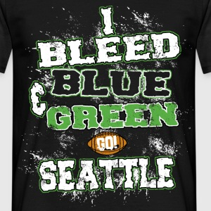 i bleed blue and green T-Shirts - Men's T-Shirt