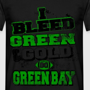 I bleed green and gold T-Shirts - Men's T-Shirt