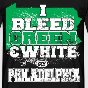 i bleed green and white T-Shirts - Men's T-Shirt