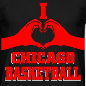 I heart chicago basketball T-Shirts - Men's T-Shirt