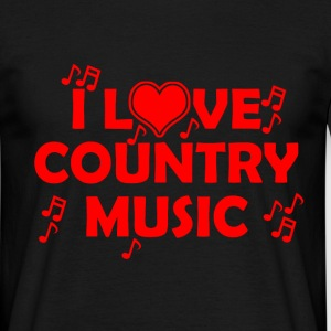 i love country music T-Shirts - Men's T-Shirt