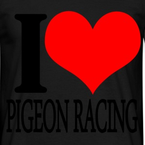 i heart pigeon racing T-Shirts - Men's T-Shirt