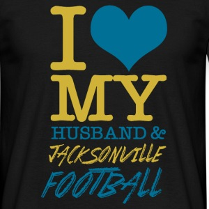 I love husband  jacksonville T-Shirts - Men's T-Shirt