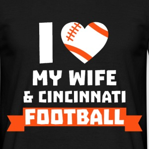 I love wife cin football T-Shirts - Men's T-Shirt