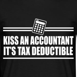 kiss an accountant T-Shirts - Men's T-Shirt