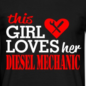 loves her diesel mechanic T-Shirts - Men's T-Shirt