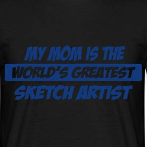 mom sketch artist T-Shirts - Men's T-Shirt