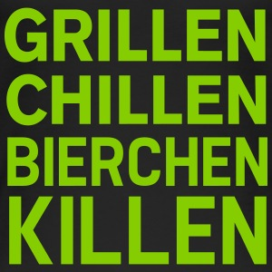 Grillen Chillen Spruch Tops - Frauen Bio Tank Top