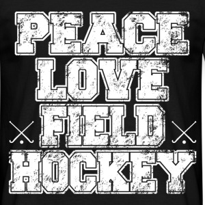 peace love field hockey T-Shirts - Men's T-Shirt