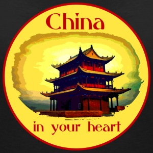 China in your heart - Frauen T-Shirt mit V-Ausschnitt