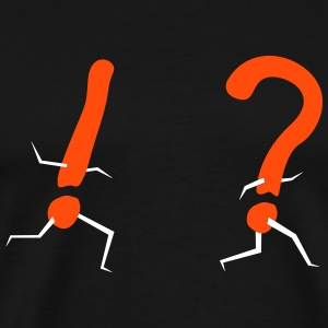 Exclamation hunts question mark T-Shirts - Men's Premium T-Shirt