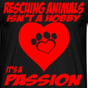 rescuing animals T-Shirts - Men's T-Shirt