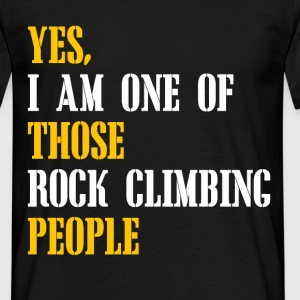 rock climbing people T-Shirts - Men's T-Shirt