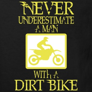 UNDERESTIMATE NIEEINEN MAN AND HIS DIRT BIKE! Shirts - Kids' Organic T-shirt