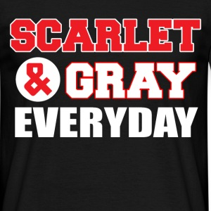 scarlet and gray everyday T-Shirts - Men's T-Shirt