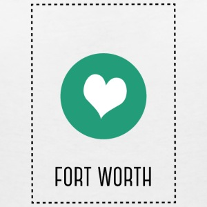 I Love fort worth T-shirts - Dame-T-shirt med V-udskæring