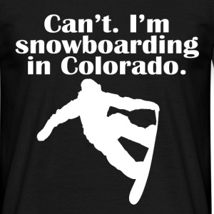 snowboarding in colorado T-Shirts - Men's T-Shirt